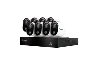 Uniden GDVR20880 Guardian 2MP FULL HD Thermal-Sensing incl 8 Wired Bullet Cam