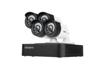 Uniden GDVR10440 - Guardian DVR Security System FULLHD Tech, +4 Weatherprf cams