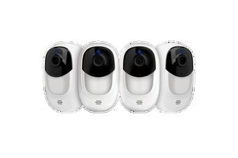 Uniden App Cam SOLO Plus WireFree FULL HD Weatherprf Smart Cam +Cloud Backup 4Pc