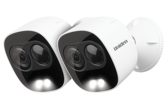 Uniden XLIGHT: Smart Security WiFi FULL HD (2MP) Camera and Spotlight Twin Pack