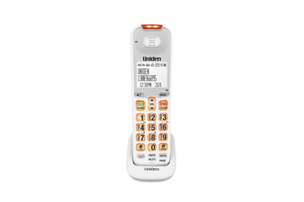 Uniden - SSE07W - Optional White Sight & Sound Enhanced Digital Cordless Handset for SSE 45/47 Series