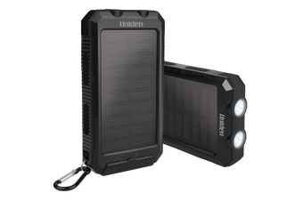Uniden - UPP80S (Twin Pack) 8000mAh Portable Solar Power Bank + Charge on The Go