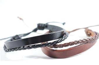 URBANBOGAN Funky F1 Leather Bracelet Set