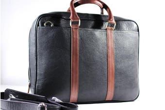 URBANBOGAN Berry Black Laptop Leather Bag