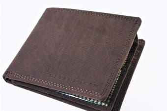 URBANBOGAN Men's Harry Brown Premium Leather Wallet