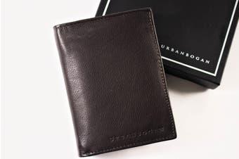 URBANBOGAN Men's William Brown Premium Leather Wallet