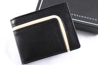 URBANBOGAN Tron Men's Executive Black Leather Wallet