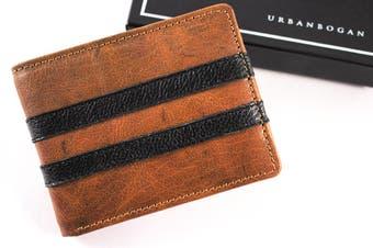 URBANBOGAN Racer Men's Executive Brown Leather Wallet