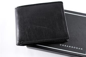 URBANBOGAN Black Men's Executive Authentic Indian Cow Leather Wallet