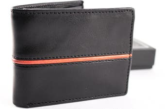 URBANBOGAN Striker Red Men's Executive Authentic Indian Cow Leather Wallet
