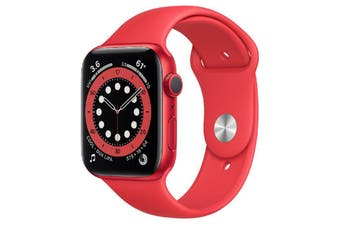Apple Watch Series 6 GPS 44mm (PRODUCT) RED Aluminum Case with RED Sport Band