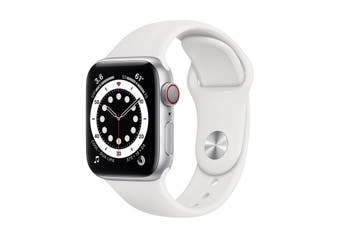 Apple Watch Series 6 GPS + Cellular 40mm Silver Aluminium Case White Sport Band