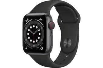 Apple Watch Series 6 GPS + Cellular 40mm Space Gray Aluminium Case Black Sport