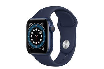 Apple Watch Series 6 GPS + Cellular 40mm Blue Aluminium Case Deep Navy Sport
