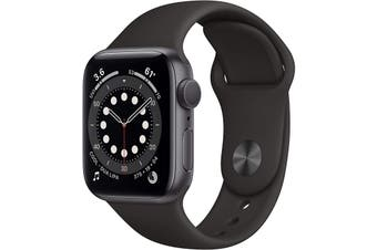 Apple Watch Series 6 GPS 40mm Space Gray Aluminium Case Black Sport Band
