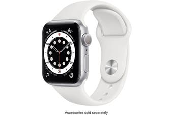 Apple Watch Series 6 GPS 40mm Silver Aluminium Case White Sport Band