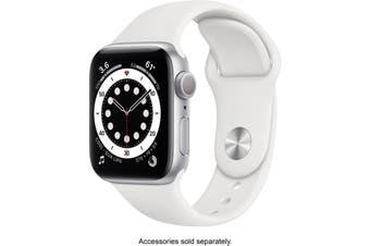 Apple Watch Series 6 GPS 40mm Silver Aluminium Case White Sport Band