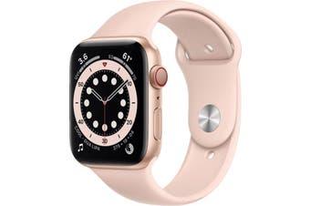 Apple Watch Series 6 GPS + Cellular 44mm Gold Aluminium Case Pink Sand Sport