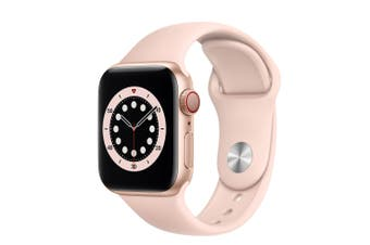 Apple Watch SE GPS + Cellular 40mm Gold Aluminium Case with Pink Sand Sport Band