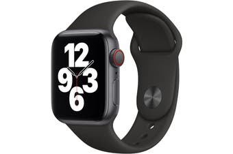 Apple Watch SE GPS + Cellular 40mm Space Gray Aluminium Case Black Sport Band