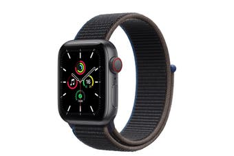 Apple Watch SE GPS + Cellular 40mm Space Gray Aluminium Case Charcoal Sport Loop