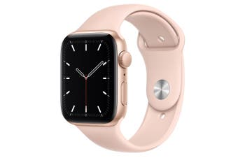 Apple Watch SE GPS + Cellular 44mm Gold Aluminium Case with Pink Sand Sport Band