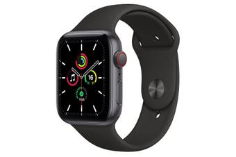 Apple Watch SE GPS + Cellular 44mm Space Gray Aluminium Case Black Sport Band