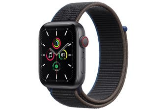 Apple Watch SE GPS + Cellular 44mm Space Gray Aluminium Case Charcoal Sport Loop