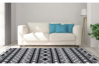 Artifact Gray Handowven Flat Weave Rug -190 x 280cms