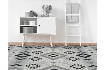 Artifact Silver Hand Made Flat Weave Rug -190 x 280cms