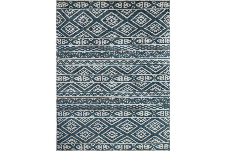 FEZA STEEL GRAY HAND KNOTTED ART SILK RUG