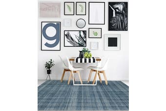 Laurel Tourquise Blue Hand Tuffted Wool rug - 160 x 230cms