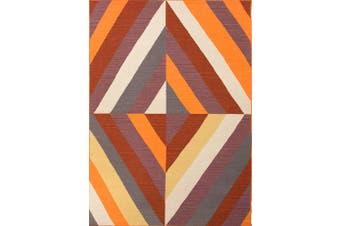 Geometric Handmade Flat Weave Rug