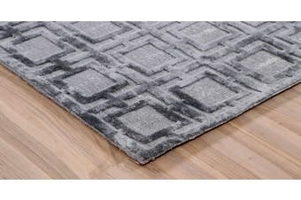 KIA SMOKE HANDLOOMED RUG-160x230cm