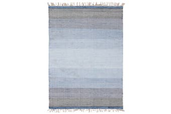 OMBRE BLUE HAND WOVEN WOOL RUG-160x230cm