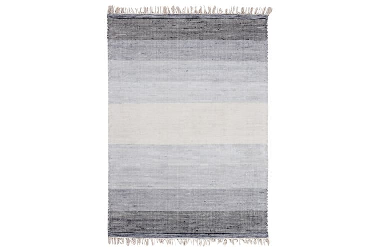 OMBRE CHARCOLE  HAND WOVEN WOOL RUG-160x230cm