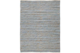 Charm Natural  Blue Handowven Jute Rug - 160 x 230cms