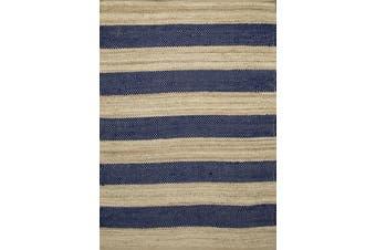 Blue Natural Fiber Rug