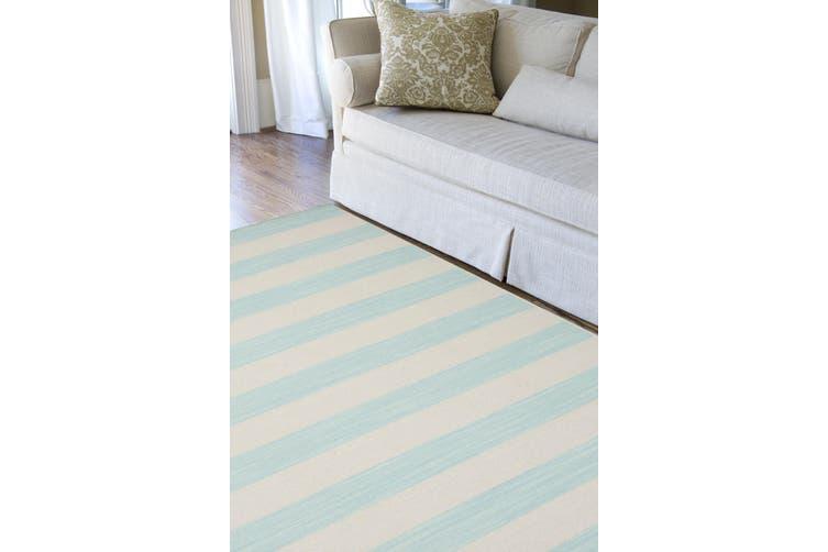 Aqua Sky Handmade Flat-Weave Rug