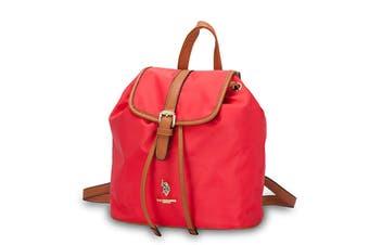 US Polo Assn. Houston Backpack Bag, Nylon/PU - Red