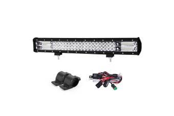 LIGHTFOX 23inch Philips LED Light Bar Spot Flood Offroad+Bullbar Mounting Bracket