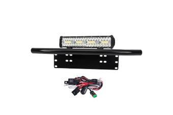 LIGHTFOX 12inch Cree LED Light Bar 23'' Number Plate Frame Combo Beam Work Driving Lights