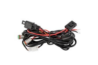 LIGHTFOX 2 Way High Beam Wiring Loom Harness 12V 40A Relay Switch Kit Driving Light Bar