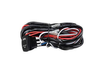 LIGHTFOX LED Wiring Loom Harness Kit one-To-Two Universal Driving Light Bar 12V 40A Relay