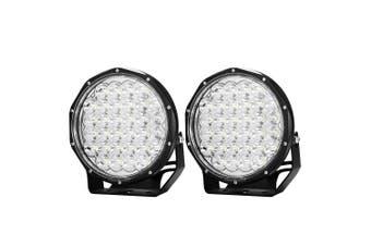 LIGHTFOX LightFox 9inch LED Driving Lights Pair LED Round Spotlight Offroad 4x4 ATV Work