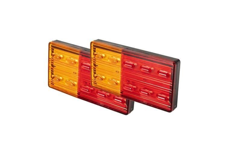 LIGHTFOX 2x LED Trailer Tail Lights Stop Indicator Lamp 12V ADR Truck UTE Submersible