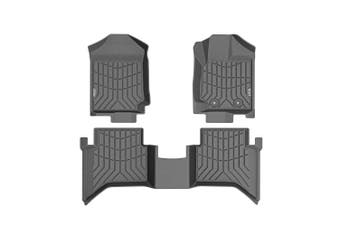 KIWI MASTER 3D TPE Floor Mats Liner Fit Ford Ranger Wildtrak Raptor PX PX2 PX3 2011-ON