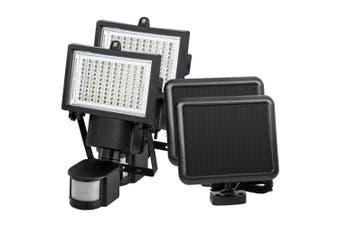 ATEM POWER 2x 100 LED Solar Sensor Lights Outdoor Security Motion Detection Garden Flood