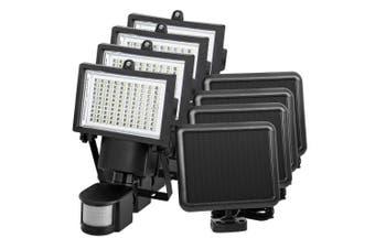 ATEM POWER 4x 100 LED Solar Sensor Light Outdoor Security Motion Detection Garden Flood