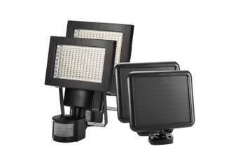 ATEM POWER 2x 120 LED Solar Sensor Lights Security Motion Detection Light Garden Flood
